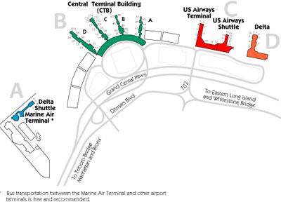 LaGuardia Airport Map : LGA